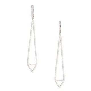 Pori 18k Gold-plated Sterling Silver Cubic Zirconia Drop Leverback Earrings