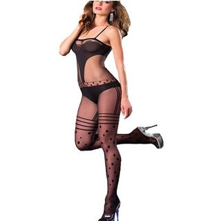 Geometric Patterned Bodystocking