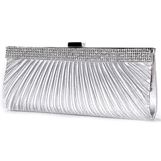 Satin Crystal Diamante Bridal Clutch Handbag