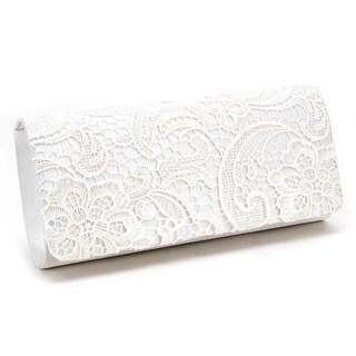Satin Flower Lace Evening Clutch Handbag