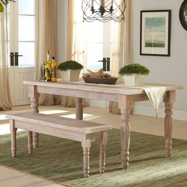 Grain Wood Furniture Valerie Solid Dining Bench