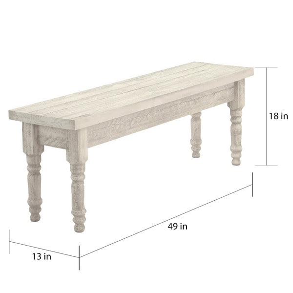 Grain Wood Furniture Valerie Solid Wood Dining Bench