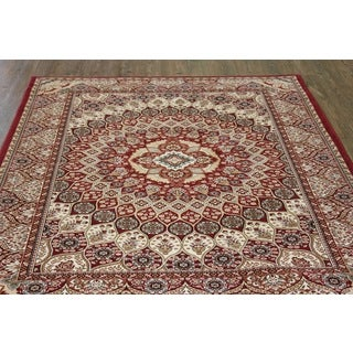 Burgundy Isfahan Persian Area Rug (5'3 x 7'5)