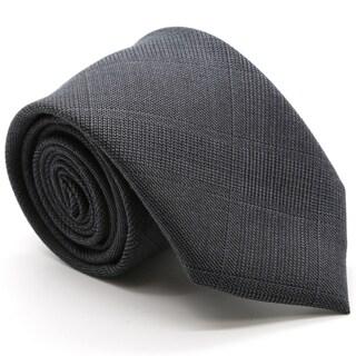 Zonettie Plaid Modern Slim Necktie and Hankerchief Set
