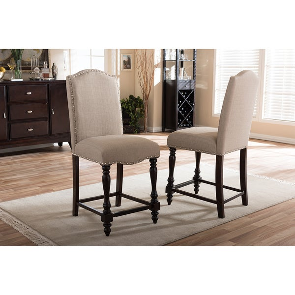 Baxton Studio Zachary Chic French Vintage Oak Brown Beige