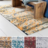 Strick & Bolton Medley Hand-tufted Wool and Viscose Abstract Area Rug - 8' x 10'