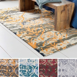 Strick & Bolton Medley Hand-tufted Wool and Viscose Abstract Area Rug