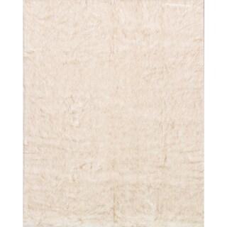 Faux Fur Ivory/ Beige Shag Rug (2'0 x 3'0)