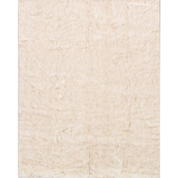 Faux Fur Ivory/ Beige Shag Rug (3'0 X 5'0)