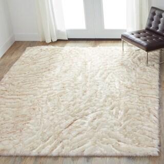 Faux Fur Ivory/ Beige Shag Rug - 10' x 13'