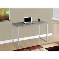 Dark Taupe and Silver Computer Desk
