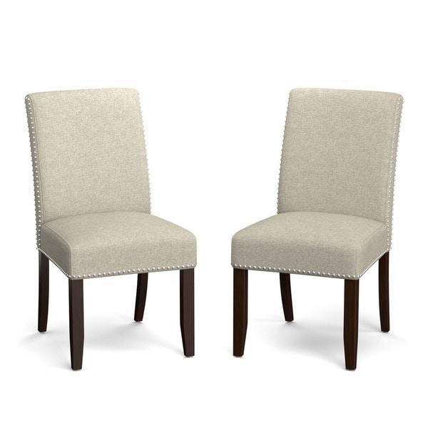 Handy Living Madelyn Barley Tan Linen Upholstered Armless