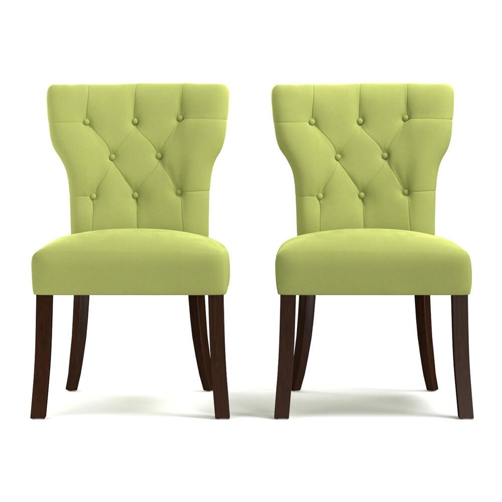 Green Dining Room Chairs: Shop Handy Living Sirena Spring Green Velvet Upholstered