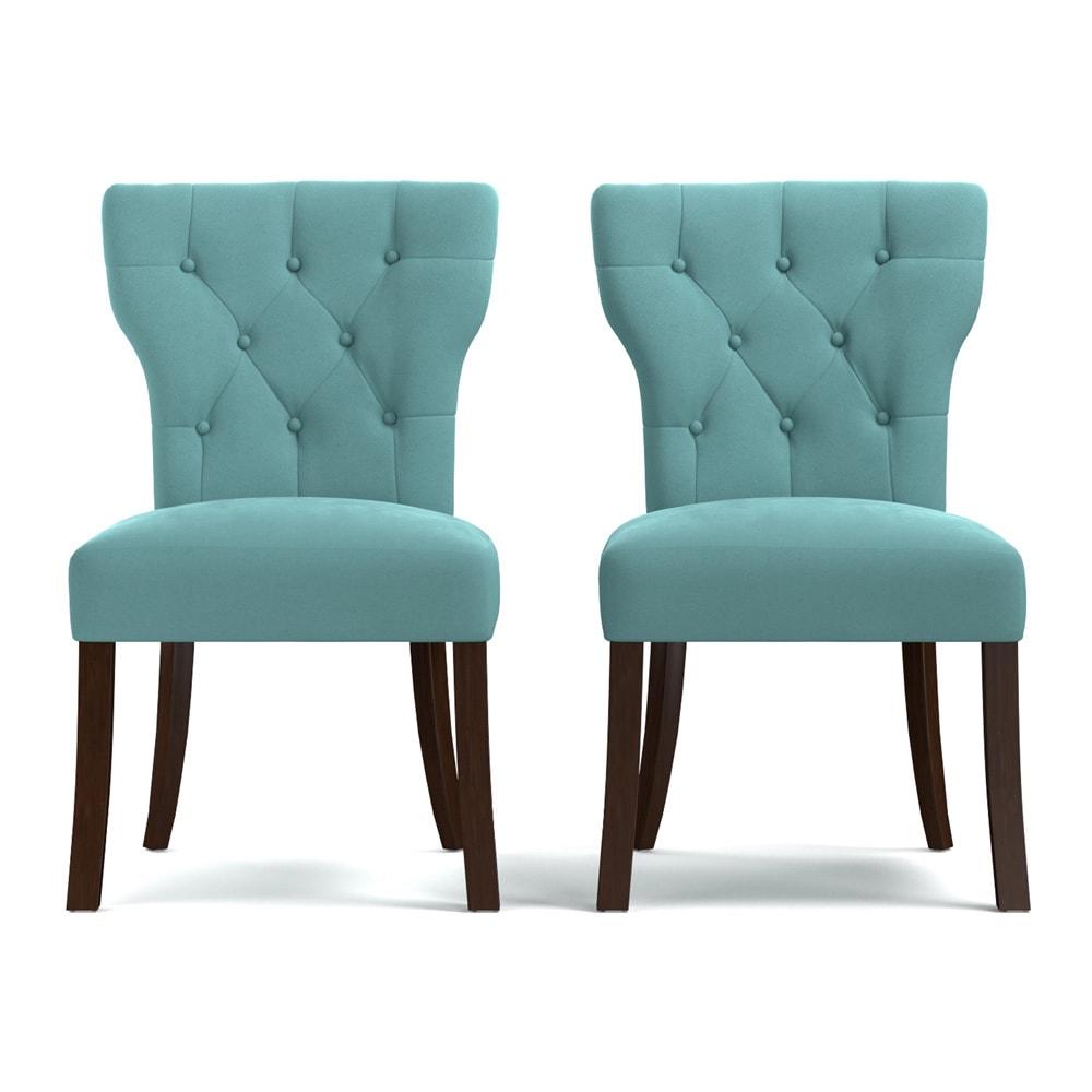 Shop Handy Living Sirena Deep Turquoise Blue Velvet Upholstered ...