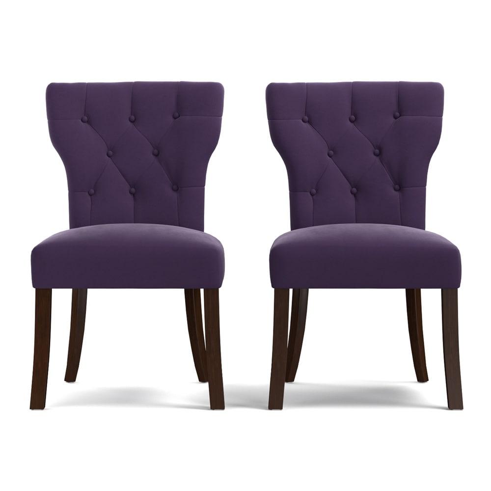shop gracewood hollow mervyn purple velvet upholstered. Black Bedroom Furniture Sets. Home Design Ideas