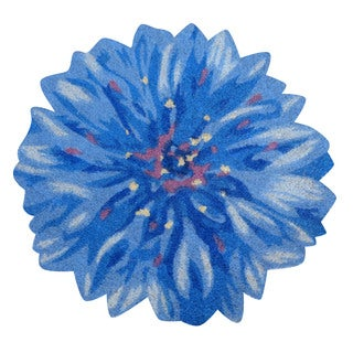 Corn Flower Shaped Vinyl Backed Coir Door Mat