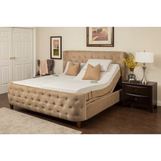 Sleep Zone Newport 10-inch Split King Memory Foam Mattress Adjustable Set