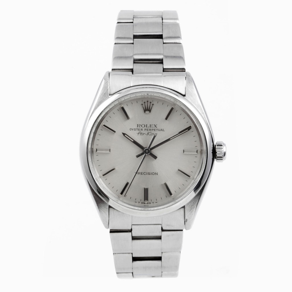 Rolex Air King Mens Stainless Steel Watch Oyster Band Bra...