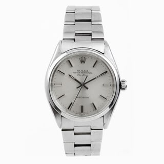 Pre-Owned Rolex Stainless Steel Air-King with a Silver Stick Dial
