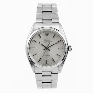 Pre-Owned Rolex Men's Stainless Steel Air-King with a Silver Stick Dial|https://ak1.ostkcdn.com/images/products/10949489/P17976040.jpg?_ostk_perf_=percv&impolicy=medium