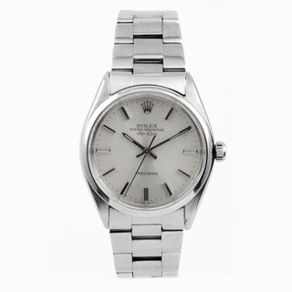 Pre-Owned Rolex Men's Stainless Steel Air-King with a Silver Stick Dial