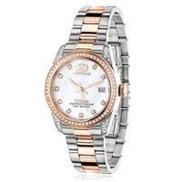 Luxurman Women's Two-Tone Gold Plated 1 1/2Ct TDW Diamond Tribeca Watch