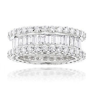 Luxurman 18k Gold 5 3/4ct TDW Diamond Eternity Band (F-G, VS1-VS2) (More options available)