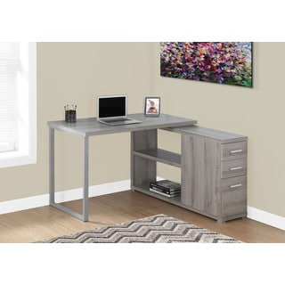 Inval America Espresso Desk With Swing Out Storage Free