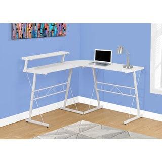 Computer Desk - White Top, White Metal