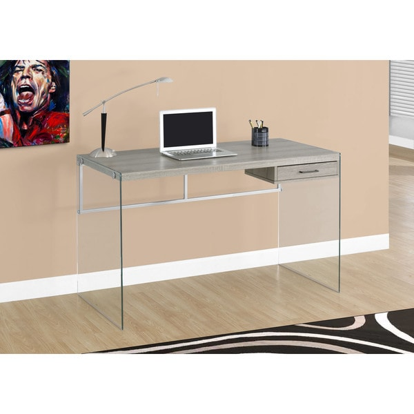 Shop 48 Inch Dark Taupe Computer Desk Free Shipping