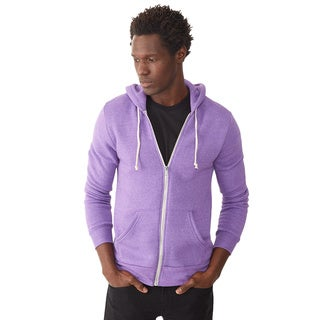 Alternative Apparel Men's Rocky Purple Eco-Fleece Zip Hoodie