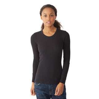 Alternative Apparel Women's Thermal Long Sleeve Crew