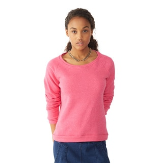 Alternative Apparel Women's Pink Dash Pullover