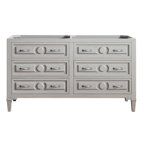 Avanity Kelly 60 in. Double Sink Vanity Only in Grayish Blue Finish