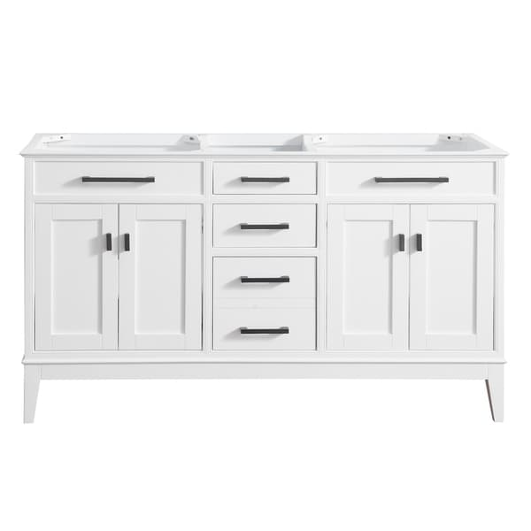 Avanity Madison 60 in. Double Sink Vanity Only in White