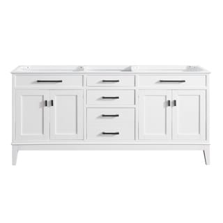 Avanity Madison 72-inch Double Sink Vanity Only in White
