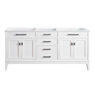 Avanity Madison 72-inch Double Sink Vanity Only in White Finish