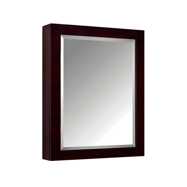 "Avanity 24-inch Mirror Cabinet in Espresso - 24""W x 30""H"