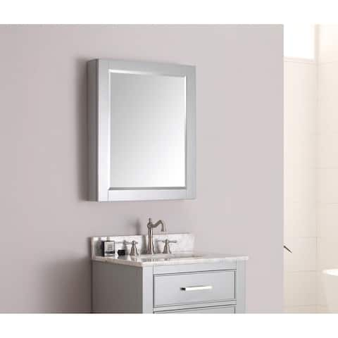 """Avanity 28-inch Mirror Cabinet in Chilled Grey - 28""""W x 36""""H"""