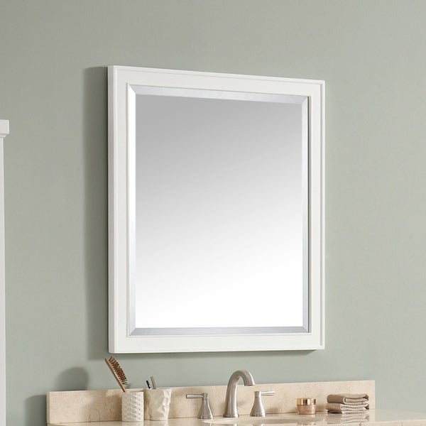 """Avanity Madison 36 in. Wall Mirror - White - 36""""W x 32""""H"""