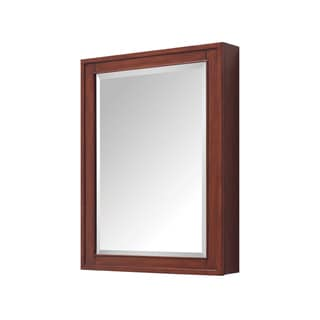 "Avanity Madison 24-inch Mirror Cabinet in a Tobacco Finish - 24""W x 32""H"