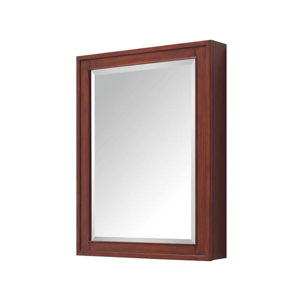 """Avanity Madison 24-inch Mirror Cabinet in a Tobacco Finish - 24""""W x 32""""H"""