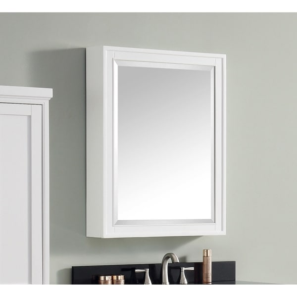 """Avanity Madison 24-inch Mirror Cabinet in White - 24""""W x 32""""H"""