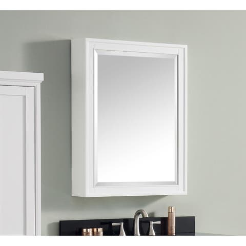 "Avanity Madison 24-inch Mirror Cabinet in White - 24""W x 32""H"