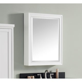 Avanity Madison 24 inch Mirror Cabinet in White finish