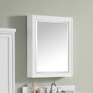 """Avanity Madison 28 inch Mirror Cabinet in White finish - 28""""W x 36""""H"""
