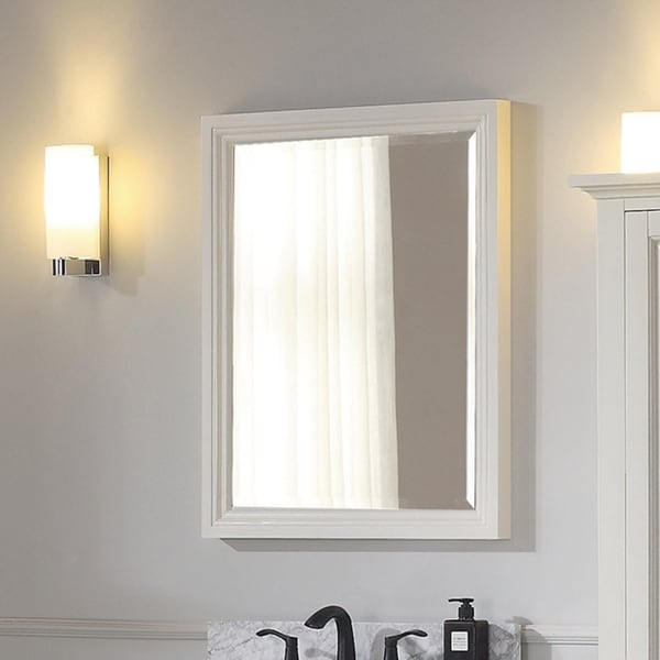 "Avanity Thompson 24 Inch Mirror - French White - French White - 24""W x 30""H"