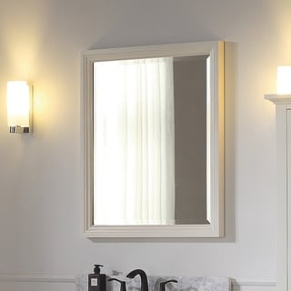 "Avanity Thompson 28 in. Wall Mirror - French White - French White - 28""W x 33""H"