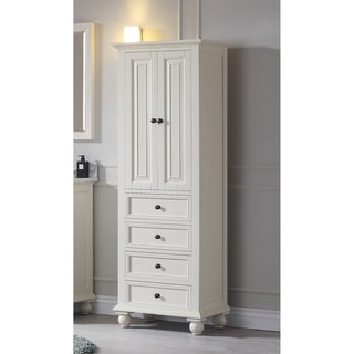 "Avanity Thompson 24 Inch French White Finish Linen Cabinet - 24""W x 68""H"