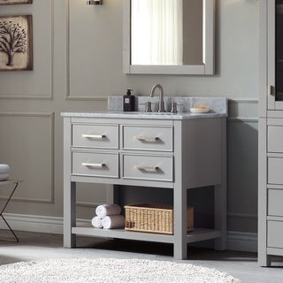 Avanity Brooks 37-inch Chilled Gray Vanity Combo with Top and Sink